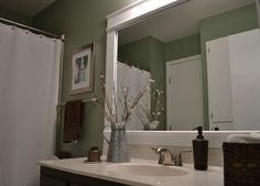 White Frame Bathroom Mirror Find This Pin And More On Laundry Looking For Framed With Ideas
