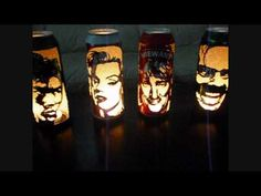 Amazing Beer Can Lanterns of famous icons from Movies and Music. Enjoy!