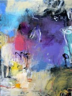 """""""Lavender Fields"""" by Charlotte Foust, acrylic on canvas, - this painting has a matching companion called """"Verbena"""" Abstract Painters, Abstract Wall Art, Abstract Landscape, Collage, Love Painting, Fine Art Gallery, Love Art, Abstract Expressionism, Painting Inspiration"""