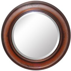 Allen Roth 29 875 In X Oil Rubbed Bronze Beveled Round Framed French Wall Mirror Bathrooms 2019 Frames On