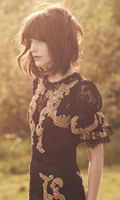 black and gold, love the hair