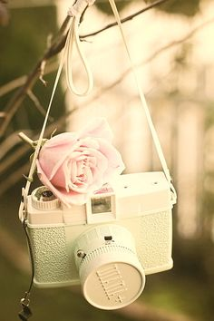 Vintage camera (It's a Diana F+ like mine) This is so cute! I really want it!