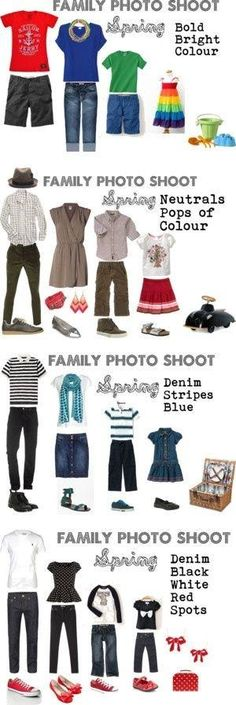 Ideas for a spring family photo session! Color Combos by Hasenfeffer