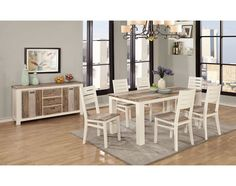 Tesla Dining Collection Is A Modern Transitional Design And Style Group Straight Simple