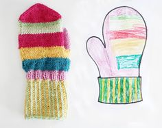 My 6-year old daughter designed mittens fo himself. Not exactly the same, but seh was happy :)  kaksneljaseitteman.blogspot.fi