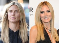 """Heidi Klum – Stars go makeup free A make up free Heidi Klum after lunch with the kids on April All celebrities look """"normal"""" without makeup. Feel better about yourself? Who needs make-up when yoHeidi Klum – Photos – StaHeidi Klum from Stars Wit Celebrity Makeup Transformation, Celebrity Makeup Looks, Celebrity Look, Amazing Makeup Transformation, Heidi Klum, Models Without Makeup, With And Without Makeup, Without Makeup Celebrities, Diy Beauty Hacks"""