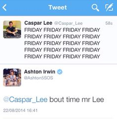 It's both of my baes Ashton Irwin, 5sos Ashton, 5sos Tweets, British Youtubers, Caspar Lee, Ricky Dillon, Joey Graceffa, Jc Caylen, Joe Sugg
