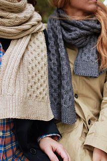 """""""Harvest Time"""" scarf knitting pattern by Amy Miller / Plucky Knitter Designs.  Great scarf design for women or men."""