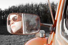 My Daughter in her 71 Super Beetle - Senior Pics