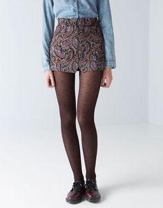 Bershka Hungary - BSK printed velveteen skirt