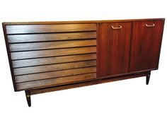 MCM Dania  Walnut Credenza on Chairish.com