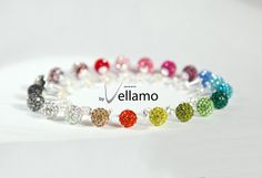 Rhinestone Earrings in lots of colors!!!  Pick your color sterling silver pave stud earrings by byVellamo, $14.00