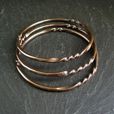 Cinnamon Jewellery: Give It A Twist - New Copper Bangles