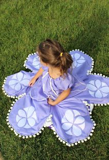 DIY Sofia the First Dress: So going to make this for the girls with matching doll dresses!
