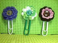 Crochet & Crafts By Maria: Crochet Paperclip Bookmarks (What To Do With Left-over Yarns)