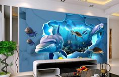 28.56$  Buy now - http://alib08.shopchina.info/go.php?t=32800571812 - customize 3d photo mural wallpaper Underwater World Ocean Background Wall 3d stereoscopic wallpaper  #shopstyle