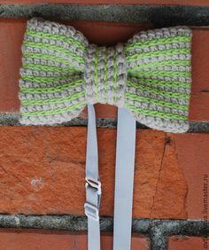 Купить Галстук-бабочка вязаный - разноцветный, галстук-бабочка, галстук бабочка, галстук-бабочка вязаный