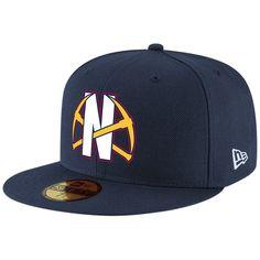 super popular 7892d 0b573 Men s Denver Nuggets New Era Navy Team Logo Back Half Series 59FIFTY Fitted  Hat,