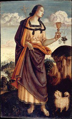 * FAITH - The Theological Virtues: Faith, Charity, Hope Italian (Umbrian) Painter (ca. 1500)
