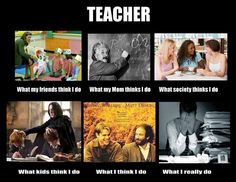 What people thinks Teacher do.