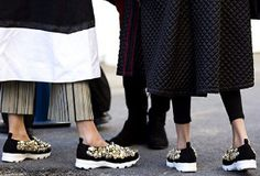 The #shoe trends everyone wore to Milan FW - Shop the story at http://www.styleforfree.com/#stylebuzz