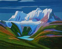 Thunder Mountain, inches, Oil on canvas, by Nicholas Bott, Canadian Canadian Painters, Canadian Artists, Landscape Art, Landscape Paintings, Van Gogh Art, Paintings I Love, Chalk Pastels, Felt Art, Art Pictures