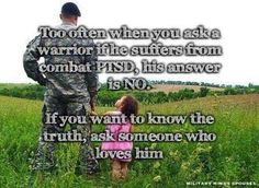 As a military wife of any branch you should always be aware of the signs and prepared to do what is necessary to give/set up the help they need.
