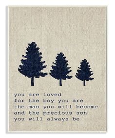 Another great find on #zulily! 'You are Loved' Trees Wall Art #zulilyfinds