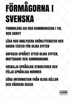 Learn Swedish, Swedish Language, Good Student, Life Rules, Good To Know, Tarot, Study, Teaching, Education