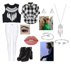 """""""Day Out with Clint"""" by thatrandomnerdygirl on Polyvore featuring WithChic, Frame Denim, Lime Crime, Lucky Brand, Midsummer Star, Bling Jewelry and Jennifer Meyer Jewelry"""
