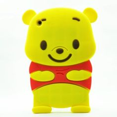 Cute 3D Cartoon Winnie the Pooh Bear Design Silicone Case Cover Skin for iPad Mini  - Cute 3D Cartoon Winnie the Pooh Bear Design Silicone Case Cover Skin for iPad Mini is designed for iPad Mini. It is made of light but strong polymer. It is stain and scratch resistant. It offers great protection of your iPAD Mini without adding bulk.