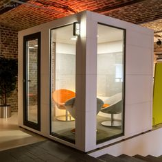 Office Pod | Office Bricks Office Pods, Library Furniture, Bricks, Offices, Tiny House, Indoor Outdoor, Cube, Doors, Space