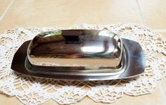 Stainless Steel Butter Dish by 2birdstudio on Etsy