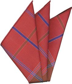 Plaid Thai Silk Pocket Square #64