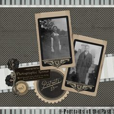 Portraits Heritage Scrapbook Layout by DSP member PQ