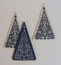 Stamped and backfilled hanging tree dec + tutorial - POTTERY, CERAMICS, POLYMER CLAY