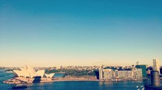 BEST VIEW. Climbed the Sydney Harbour Bridge today. So beautiful. Couldn't have picked a better day in winter! It's frickin winter. Amazing. #Sydney #operahouse #harbourbridge #skyline