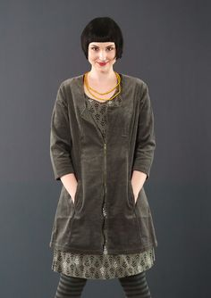 Corduroy tunic – Weaves – GUDRUN SJÖDÉN – Webshop, mail order and boutiques | Colourful clothes and home textiles in natural materials.