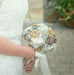 Louisa's bouquet, created by Moss and Mushroom