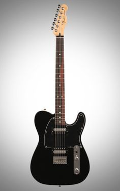 Fender Standard Telecaster HH Electric Guitar, with Rosewood Fingerboard, Black Fender Standard Telecaster, Telecaster Guitar, Guitar Amp, Cool Guitar, Electric Guitar Kits, Music Stuff, Musical Instruments, Sexy Ass, Industrial Design