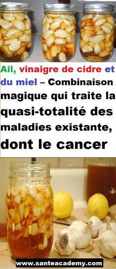 Ail, vinaigre de cidre et du miel – Combinaison magique qui traite la quasi-totalité des maladies existante, dont le cancer#remèdesnaturels #santé #santénaturelle