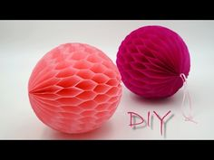 basteln mit Papier: Wabenbälle aus Seidenpapier / Blumenseide selber basteln, DIY - YouTube