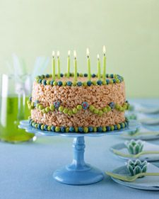 Rice Krispie Cake! Kyle would love this