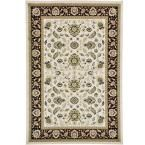 Agra Ivory 6 ft. x 9 ft. Area Rug