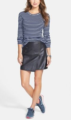 Obsessed with the leather wrap skirt!