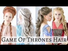 Iconic Game of Thrones Hairstyles - Hair Tutorial - YouTube