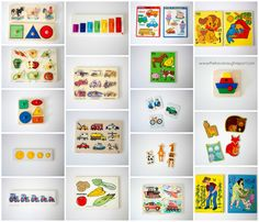 Montessori toddler puzzles age 12 to 24 months. Progression of puzzles for…