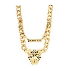 Fearless Cheetah Necklace Set ($30) ❤ liked on Polyvore featuring jewelry, necklaces, accessories, jewels, chains, chunky jewelry, jewel necklace, cheetah necklace, adjustable chain necklace and lobster claw clasp charms