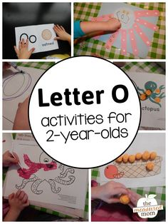 If youre teaching your toddler the alphabet, youll want to check out this huge list of playful alphabet activities for 2 year olds! Letter O Activities, Preschool Learning Activities, Preschool Letters, Toddler Activities, Preschool Curriculum, Motor Activities, Kids Learning, Preschool 2 Year Old, Preschool Lesson Plans