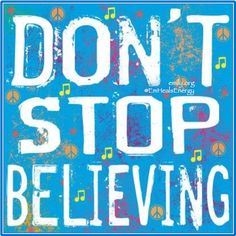 Louise Carey Premium Thick-Wrap Canvas Wall Art Print entitled Don't Stop Believing, None Power Metal, Folk, Learn Hebrew, New Wave, We Will Rock You, Inspirational Posters, Motivational, Inspiring Quotes, Dont Stop